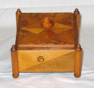 Art Deco Marquetry box.