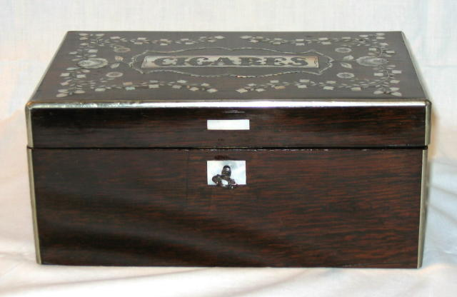 Rosewood Cigars Box.
