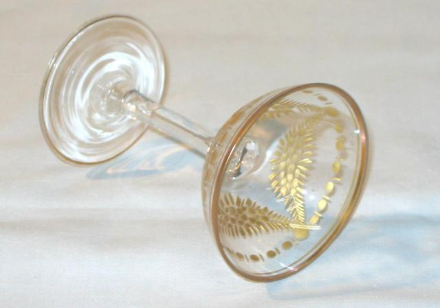 Gilded and Cut Glass Austrian Empire Cups.