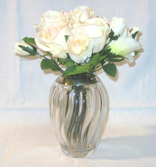 Art Deco Silver and Glass Vase.