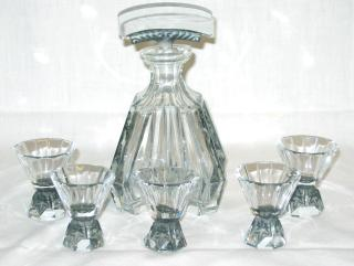 Schlevogt Art Deco Liqueur Set.