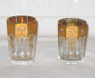 Pair of Moser Marienbad glasses.