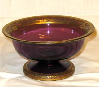 Moser Amethyst Glass Tazza.