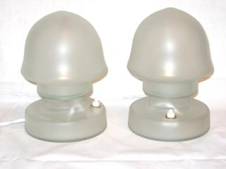 Pair of Bauhaus Style Bed Side lamps.