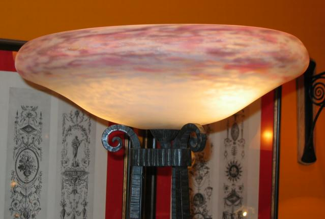 Daum Nancy Art Deco Floor Lamp.