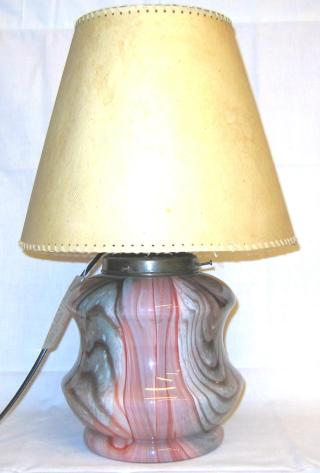German Art Deco Glass Table Lamp.