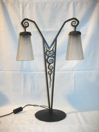 Muller Freres Art Deco Table Lamp.