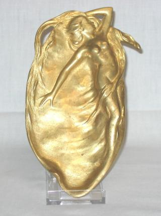Art Nouveau Bronze Tray with Nude.