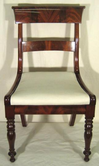 Biedermeier Mahogany Chairs.