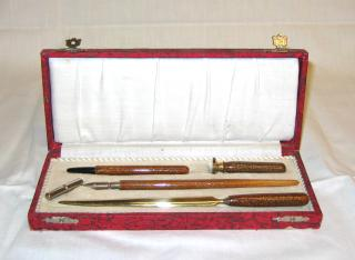 Art Deco cased Desk Set.
