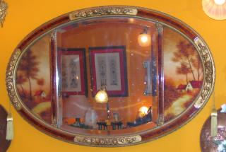 Art Deco Mirror with Landscapes.