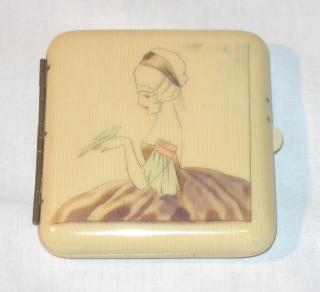Art Deco Lady's Cigarettes Case.