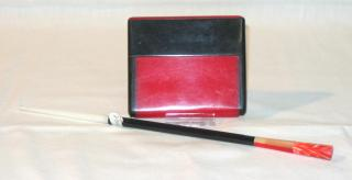 Art Deco Lady's Cigarettes Case and Cigarette Holder.