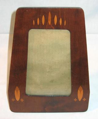 Jugendstil Mahogany and Marquetry Pictures Frame.