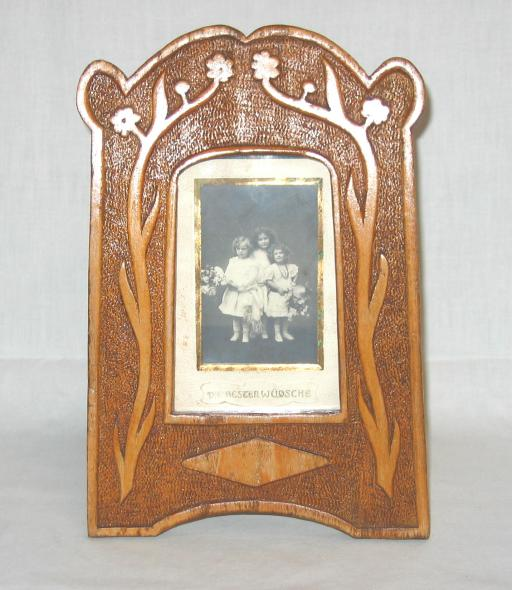 Jugendstil Carved Wood Pictures Frame.