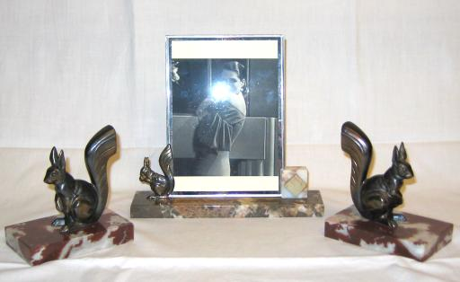 Art deco Pictures Frame and Bookends.